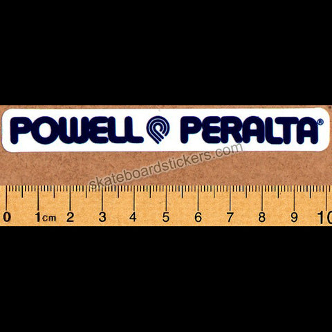 Powell Peralta Strip Old School Reissue Skateboard Sticker - dark blue