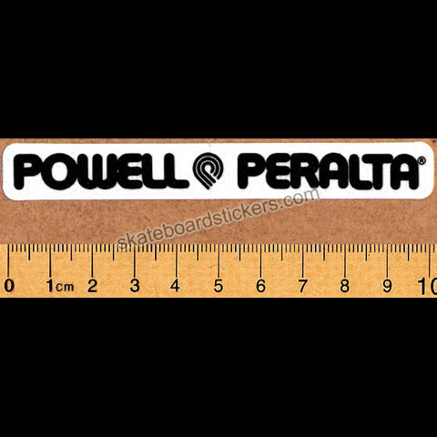 Powell Peralta Strip Old School Reissue Skateboard Sticker - black