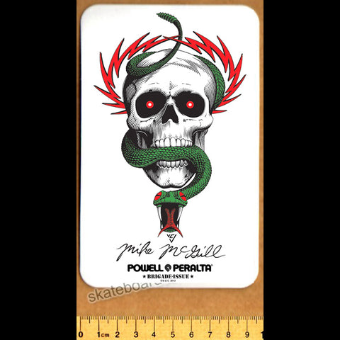 Powell Peralta Mike McGill - Skull & Snake Reissue Skateboard Sticker