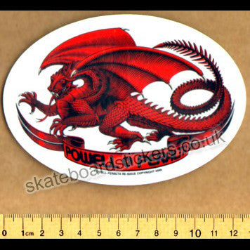 Powell Peralta Old School Bones Brigade Dragon Skateboard Sticker - SkateboardStickers.com