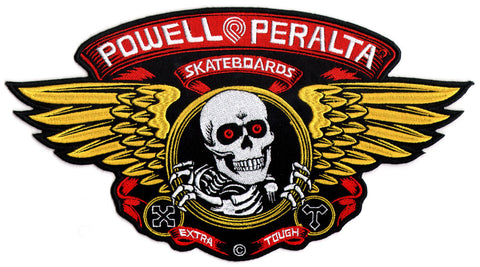 Powell Peralta Large Winged Ripper Skateboard Patch - SkateboardStickers.com