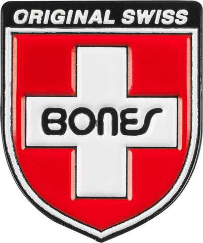 Bones Bearings Swiss Shield Lapel Pin Badge
