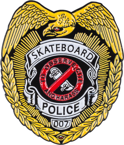 Powell Peralta Skateboard Police Lapel Pin Badge