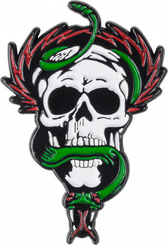 Powell Peralta Skull and Snake Lapel Pin Badge