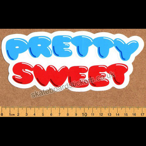 Pretty Sweet Girl/Chocolate Skateboard DVD/Video Sticker - SkateboardStickers.com