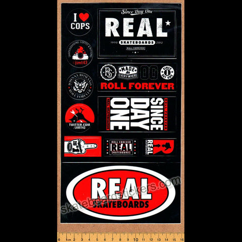 Real Skateboard Sticker Sheet - SkateboardStickers.com