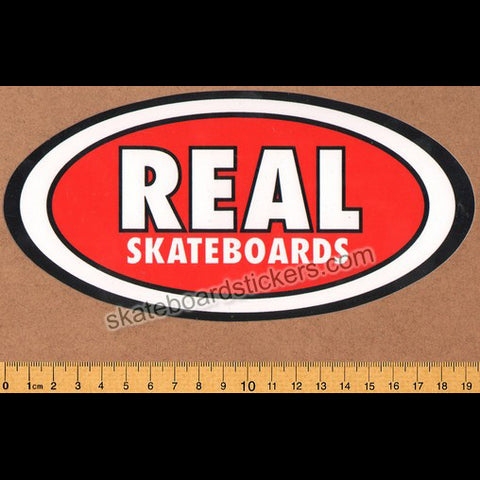Real Sticker Oval Classic Skateboard Sticker