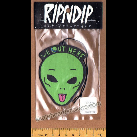Rip N Dip Air Freshener - We Out Here - SkateboardStickers.com