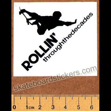 Rollin' Through The Decades Skateboard Sticker