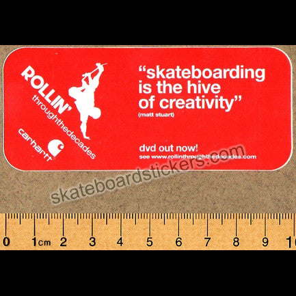 Rollin' Through The Decades Skateboard Sticker - SkateboardStickers.com