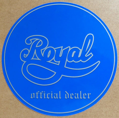Royal Trucks Authorized Dealer Window Skateboard Sticker