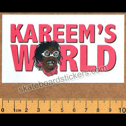 S&M - Kareem's World BMX Sticker
