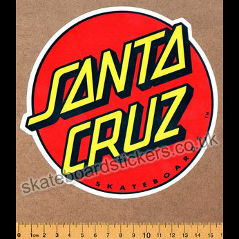 Santa Cruz Classic Dot Skateboard Sticker - large