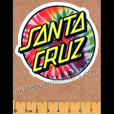 Santa Cruz Tie Dye Skateboard Sticker - SkateboardStickers.com