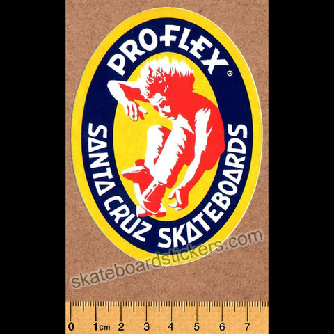 Santa Cruz Old School Skateboard Sticker - Powerflex - SkateboardStickers.com