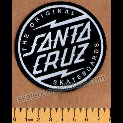 Santa Cruz Logo Skateboard Patch - SkateboardStickers.com