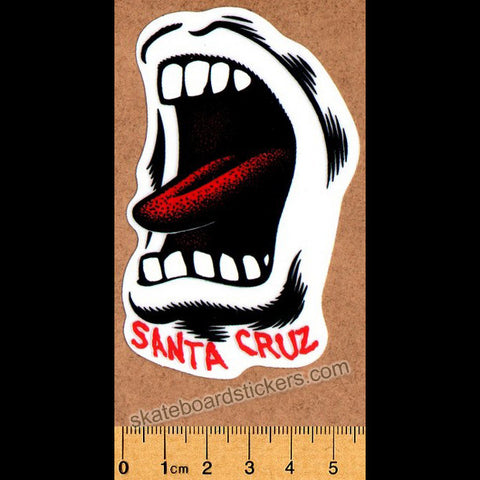 Santa Cruz Screaming Mouth Skateboard Sticker - SkateboardStickers.com