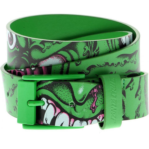Santa Cruz Rob Roskopp Face Belt - Green - S/M - SkateboardStickers.com