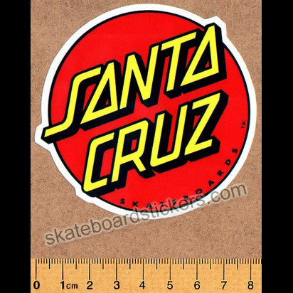 Santa Cruz Classic Dot Skateboard Sticker