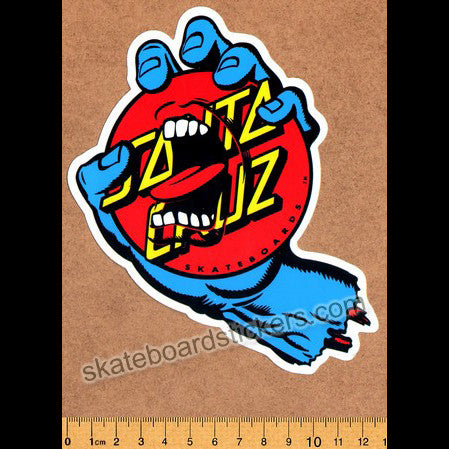 Santa Cruz Screaming Dot Skateboard Sticker