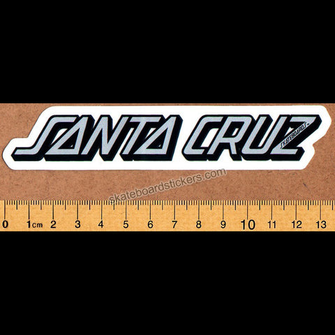 Santa Cruz Strip Skateboard Sticker - medium grey