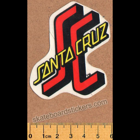 Santa Cruz Old School Skateboard Sticker