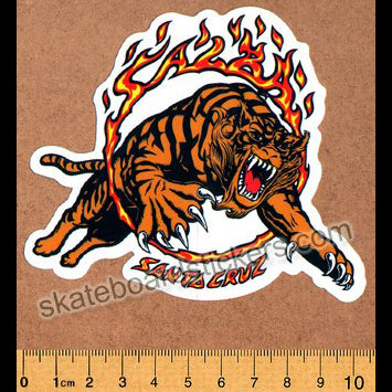 Santa Cruz Salba Tiger Skateboard Sticker