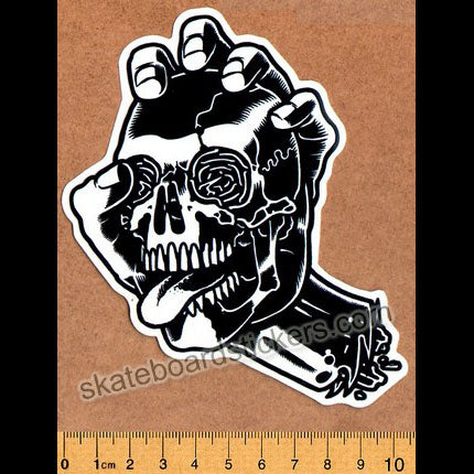 Santa Cruz - Screaming Skull Skateboard Sticker