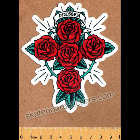 Santa Cruz - Eric Dressen Rose Kit Skateboard Sticker
