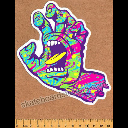 Santa Cruz - Screaming Spill Hand Skateboard Sticker