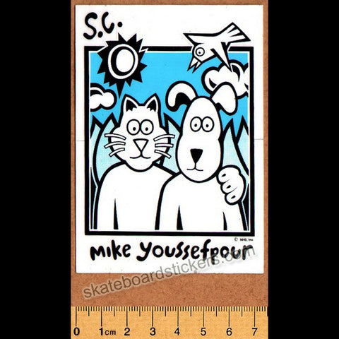 Santa Cruz Mike Youssefpour Old School Skateboard Sticker