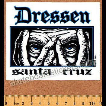 Santa Cruz Eric Dressen Old School Skateboard Sticker
