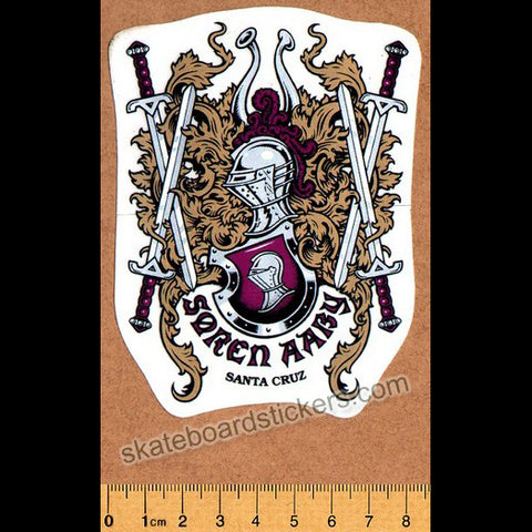 Santa Cruz Soren Aaby Old School Skateboard Sticker
