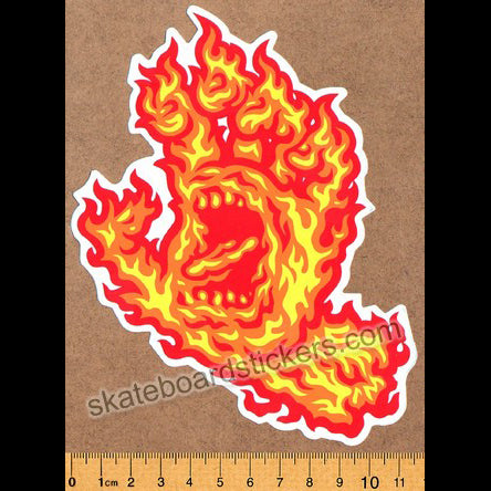 Santa Cruz Skateboard Sticker - Screaming Flame Hand