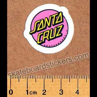 Santa Cruz Official Old School Reissue Skateboard Sticker (mini)