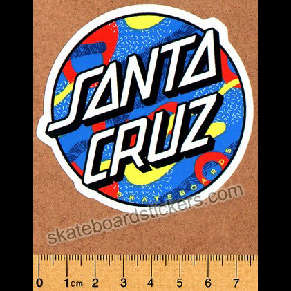 Santa Cruz Primary Dot Skateboard Sticker