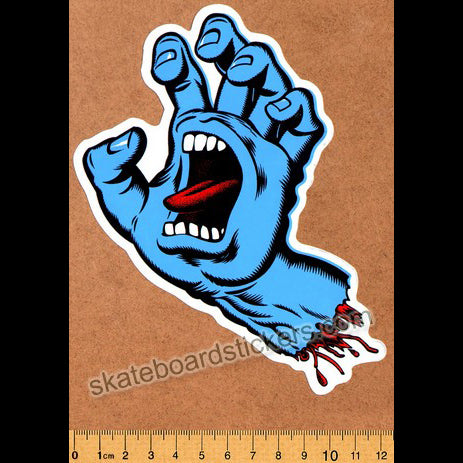 Santa Cruz Skateboard Sticker - Screaming Hand
