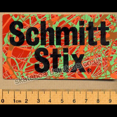 Schmitt Stix - Splatter Old School Skateboard Sticker