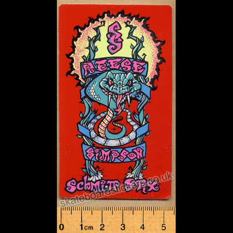 Schmitt Stix Old School Vintage Skateboard Sticker - Reese Simpson
