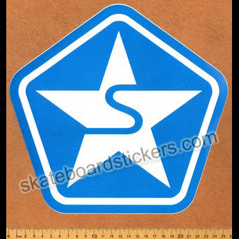 Sessions Skateboard / Snowboard Sticker - Blue Large