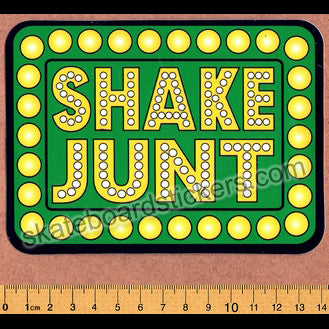 Shake Junt Skateboard Sticker - SkateboardStickers.com