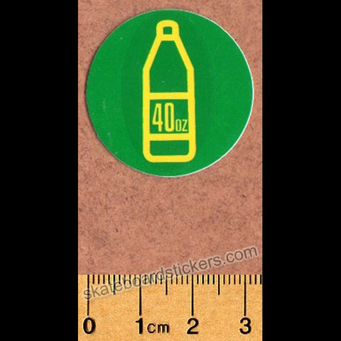 Shake Junt Skateboard Sticker - 40oz Green - SkateboardStickers.com