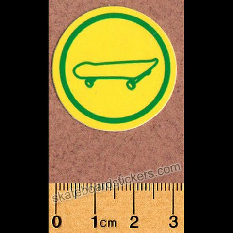 Shake Junt Skateboard Sticker - Board Yellow - SkateboardStickers.com