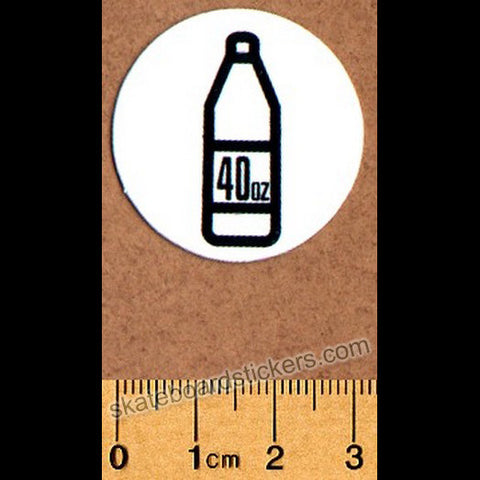 Shake Junt Skateboard Sticker - 40oz White - SkateboardStickers.com