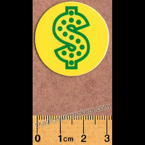 Shake Junt Skateboard Sticker - Dollar Yellow - SkateboardStickers.com