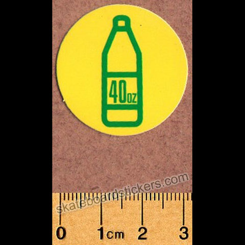Shake Junt Skateboard Sticker - 40oz Yellow - SkateboardStickers.com