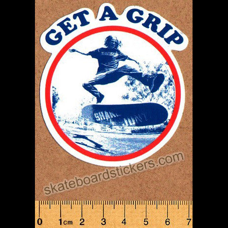 Shake Junt Skateboard Sticker - Get a Grip - SkateboardStickers.com