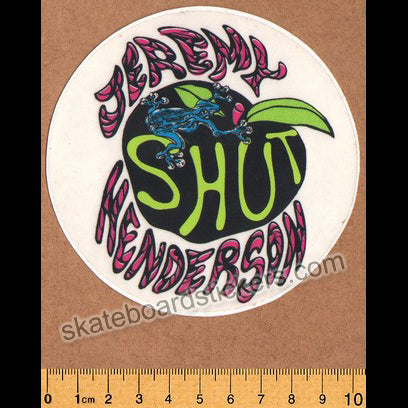 Shut Skates - Jeremy Henderson Old School Skateboard Sticker