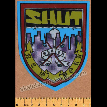 Shut Skates - New York Old School Skateboard Sticker
