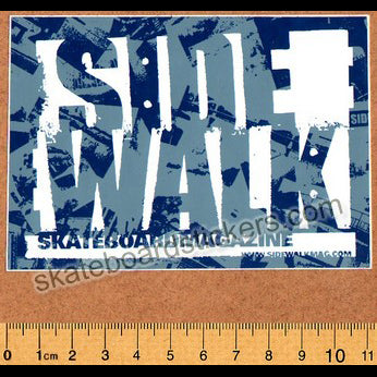 Sidewalk Magazine Old School Skateboard Sticker